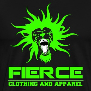 FIERCE Clothing Line (Green on Black) - Men's Premium T-Shirt