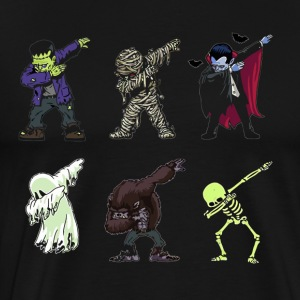 Dabbing Skeleton Shirt Halloween Monsters Dracula - Men's Premium T-Shirt