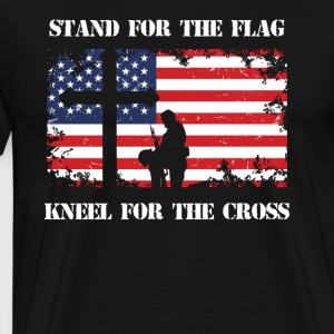 Stand For The Flag Kneel For The Cross Veteran - Men's Premium T-Shirt