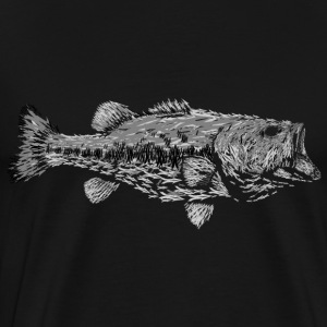 3 SHADES OF GREY LARGEMOUTH BASS - Men's Premium T-Shirt