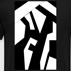 Shapes1 B&W - Men's Premium T-Shirt