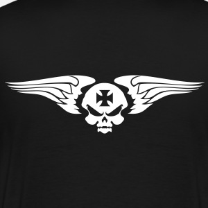 skull wings and Maltese cross