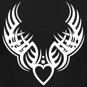 Tattoo wings, guardian angel with heart. - Men's Premium T-Shirt