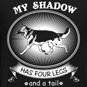 German Shepherd Dog Funny Art My Shadow Has Four L - Men's Premium T-Shirt