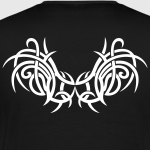 Tattoo wings with thorns, modern Tribal style. - Men's Premium T-Shirt