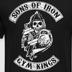 Sons of Iron Gym Kings Bodybuilding Fitness - Men's Premium T-Shirt