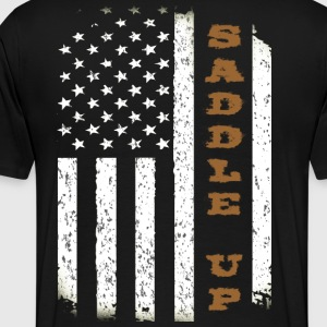 Saddle Up Flag. - Men's Premium T-Shirt