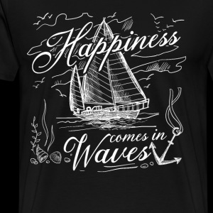 Happiness comes in Waves ocean boating