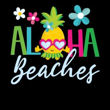 b3383c6f1 Aloha Beaches Hawaiian Hula Pineapple w Sunglasses - Men's Premium T-Shirt