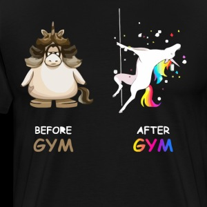Unicorn before gym and after gym