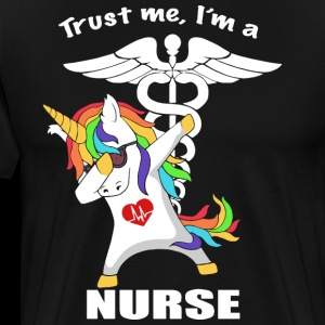 trust me I am a unicorn nurse t shirts