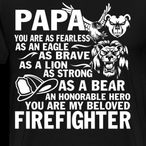 Papa Firefighter T Shirt, Firefighter T Shirt