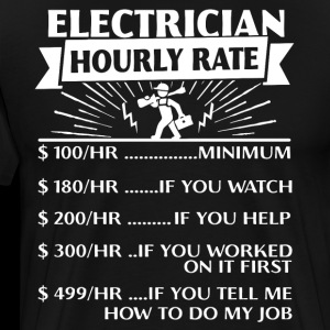 Electrician Hourly Rate electrican T Shirts