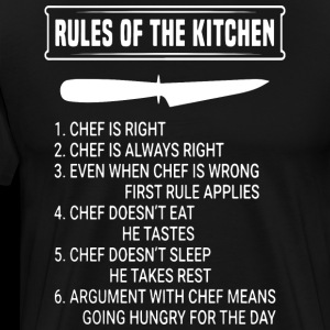 rules of the kitchen chef is right chef is always