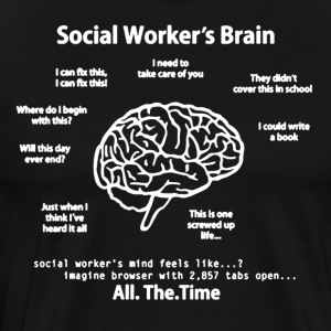 Social Worker's Brain Shirt