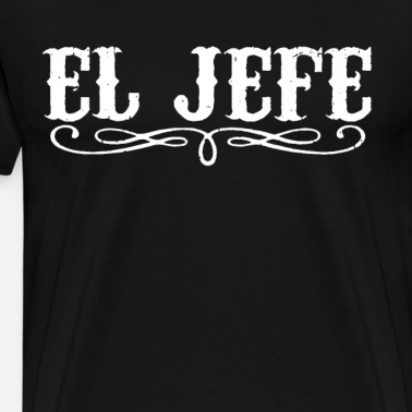 El Jefe Embroidered Black Polo Sport Shirt S-5XL
