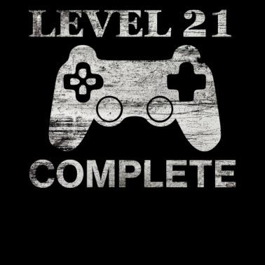 1fd8f5c215 21st Birthday - Level 21 Complete-Retro Gamer Gift - Men's Premium T-Shirt