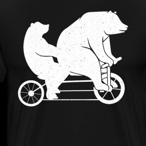Father's Day T-shirt Gift Funny bear on bike.