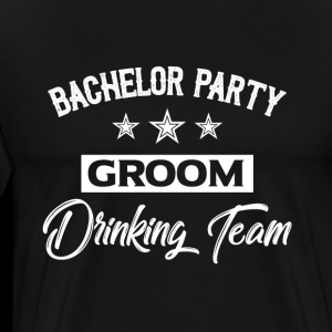 Bachelor party groom drinking team