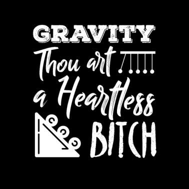 Physics Physicist Gravity Science Quantum Gift Men's T-Shirt