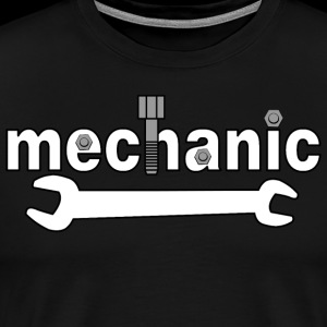 Mechanic Nuts and Bolts White Text