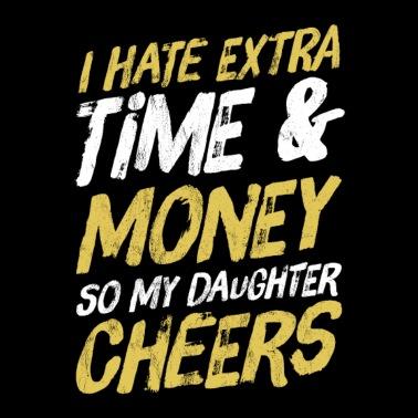 65abbfe9 Funny Dad Parent of Cheerleader Cheer Team Gift - Men's Premium T-Shirt
