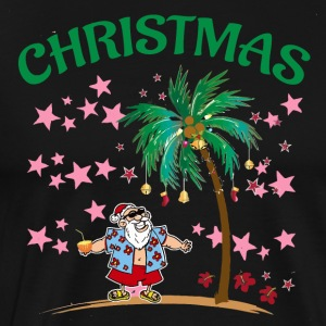 Christmas In July Funny Santa Claus Tropical Beach