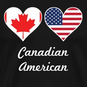 Canadian American Flag Hearts