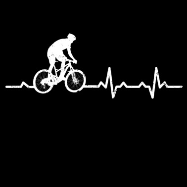 38e721b690e597 Heartbeats Mountain Bike Heart Rate - Men s Premium T-Shirt