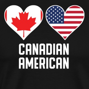 Canadian American Heart Flags