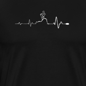 Running - Awesome running heartbeat t-shirt