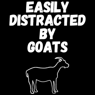 b51144cc Goat lover - Easily Distracted By Goats Funny Go - Men's Premium T-Shirt