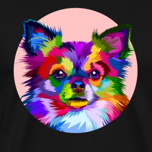 Funny Cute Rainbow Colorful Chihuahua Dog Face