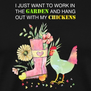 Funny Work In Garden Be With Chickens