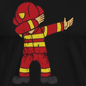 Retro Vintage Grunge Style Dabbing Dab Firefighter