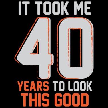 Funny 40th Birthday Pun Design Gift Ideas - Men's Premium T-Shirt