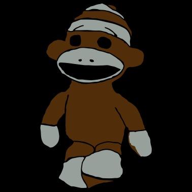 e1b9f41f sock monkey Men's Jersey T-Shirt   Spreadshirt