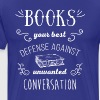 Books your best defense Book Reading T Shirt - Men's Premium T-Shirt