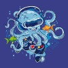 Octopus with gamepad and VR goggles - Men's Premium T-Shirt