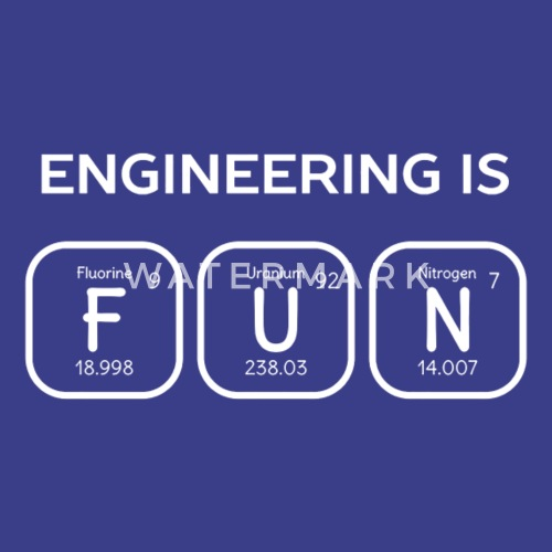 Engineering Is Fun Periodic Table By Busan128 Spreadshirt