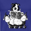 Border Collie and sheep - dog  - Men's Premium T-Shirt