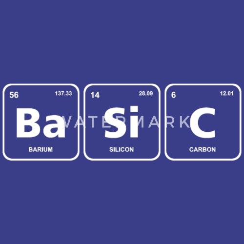 Basic Periodic Table Element Geek Nerd Chemistry By Fancyteedesigns