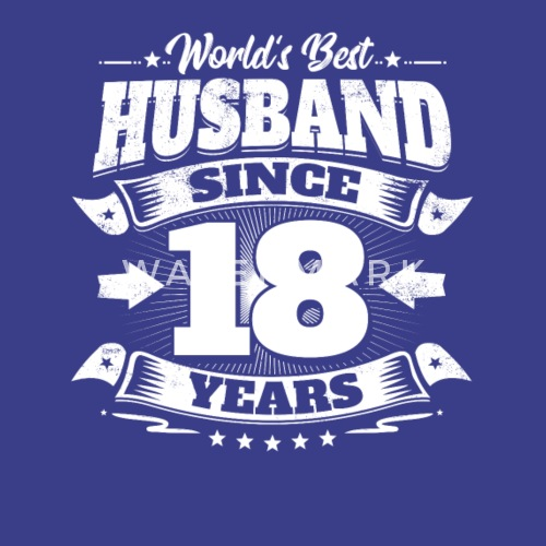 Wedding Day 18th Anniversary Gift Husband Hubby By Easyteezy