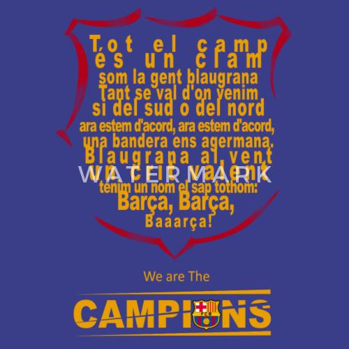 Design El Barcelona | Lyrics Of The Fc Barcelona Anthem By Simple Shop Spreadshirt