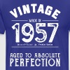 60th Birthday Gift: Vintage 1957 Aged Perfection - Men's Premium T-Shirt