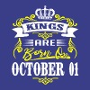 Kings are born on October 01 - Men's Premium T-Shirt