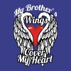 My brother's wings cover my heart - Men's Premium T-Shirt