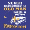 Old Man With A Pontoon Boat T Shirt - Men's Premium T-Shirt