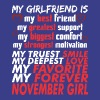 My Girlfriend Is November Girl - Men's Premium T-Shirt