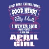 APRIL BORN GIRL PERFECT GIRL BIRTHMONTH QUOTE - Men's Premium T-Shirt